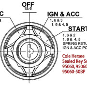 Cole Hersee 4  Position Sealed Key Switch