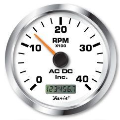 Boat Wiring Diagrams Diagram For 2000 Honda Accord Door Non-programmable Tachometer With Digital Hourmeter 4000 Rpm (alternator Pickup) – Ac Dc Marine Inc.