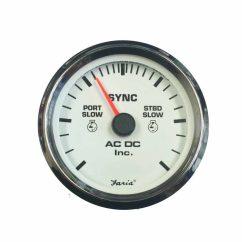 Vdo Marine Gauges Wiring Diagrams Diagram To Wire A 3 Way Switch Dual Engine Synchronizer Gauge – Ac Dc Inc.