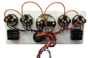 Marine Instrument Panel With 4 Rocker Switches
