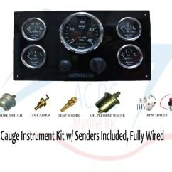 Vdo Marine Gauges Wiring Diagrams Yanmar Alternator Diagram Caterpillar Panel Kit W/ Sending Units – Ac Dc Marine, Inc.
