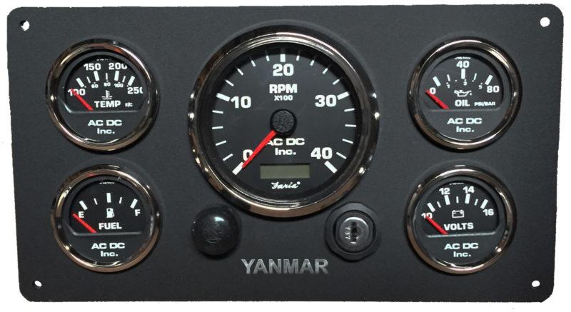 Westerbeke Wiring Diagrams Black Yanmar Marine Engine Instrument Panel Black Gauges