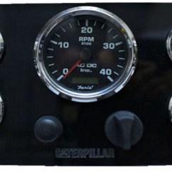 Vdo Tachometer Wiring Diagrams Pig Origami Diagram Of Animals Black Caterpillar Marine Engine Instrument Panel, Gauges – Ac Dc Inc.