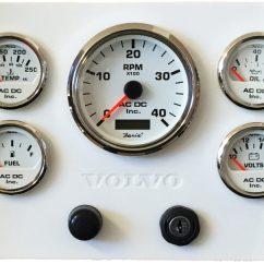Vdo Marine Gauges Wiring Diagrams Chevy Truck 1994 White Volvo Engine Panel, 9.75″ X 7.5″ – Ac Dc Inc.
