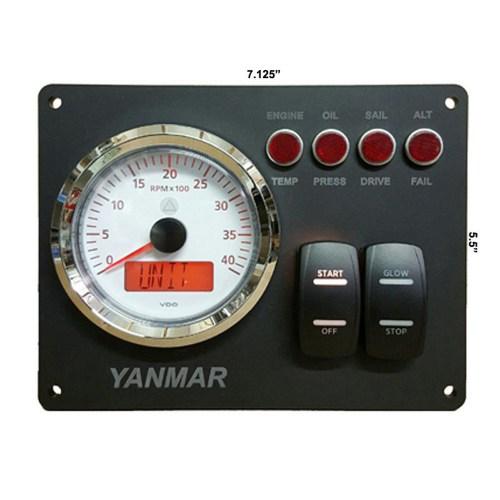 RPM Gauge w/ Magnetic Pickup | RPM Gauge w/ Alternator Pickup | RPM Gauge with /Signal Generator | Trans Oil | Trans Temp | 24 Voltmeter | Rudder Angel Indicator | Clock additional 20 Dollars Clock Only