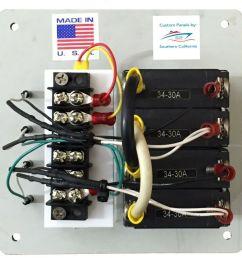 30 amp circuit breaker panel shore power inverter selector switch panel usa made [ 1024 x 1010 Pixel ]