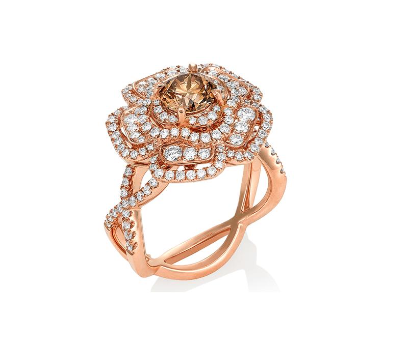 Desert Rose Chocolate Diamond Ring