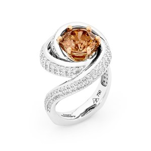 Angels delight Chocolate Diamond Ring