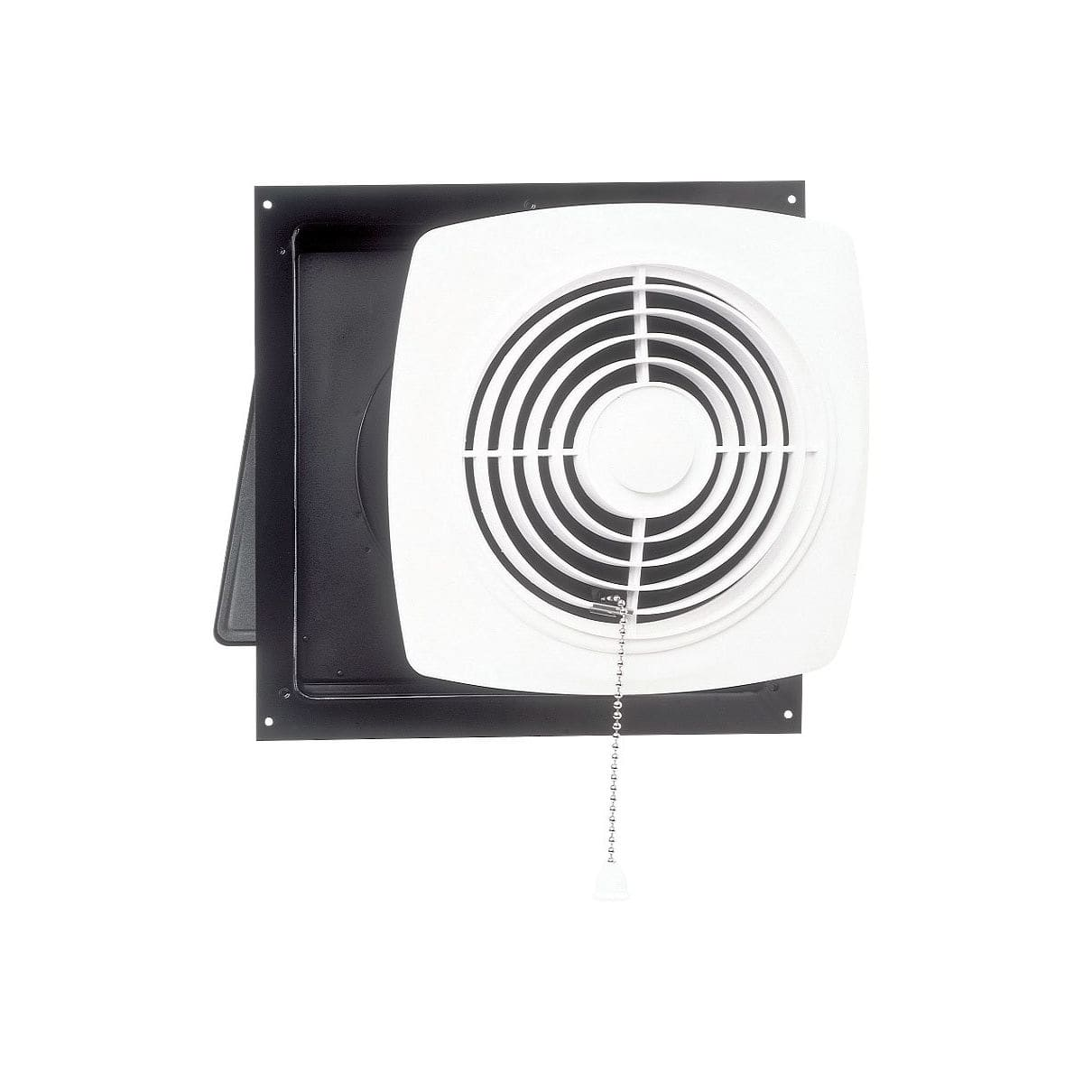 hight resolution of broan 10 470 cfm chain operated wall fan white square plastic grille 506