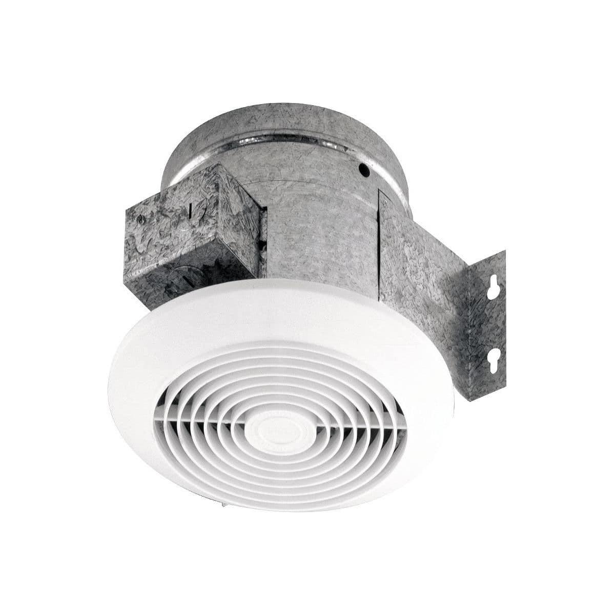 hight resolution of broan 6 60 cfm ceiling ventilation fan white plastic grille 673