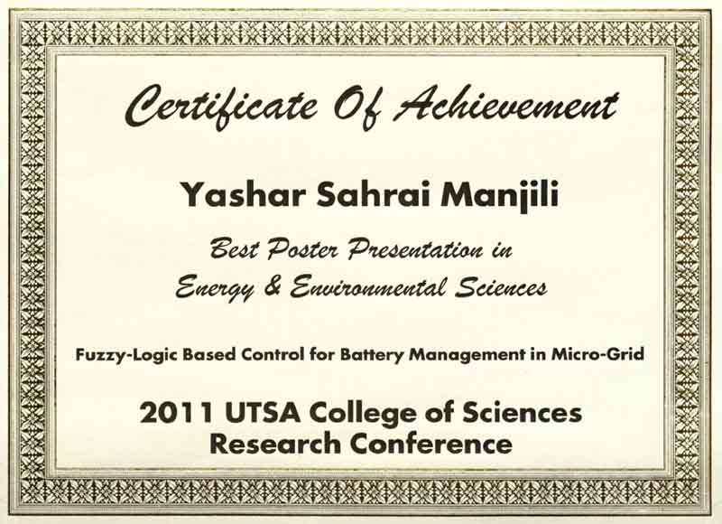 Honors and Awards  Autonomous Control Engineering
