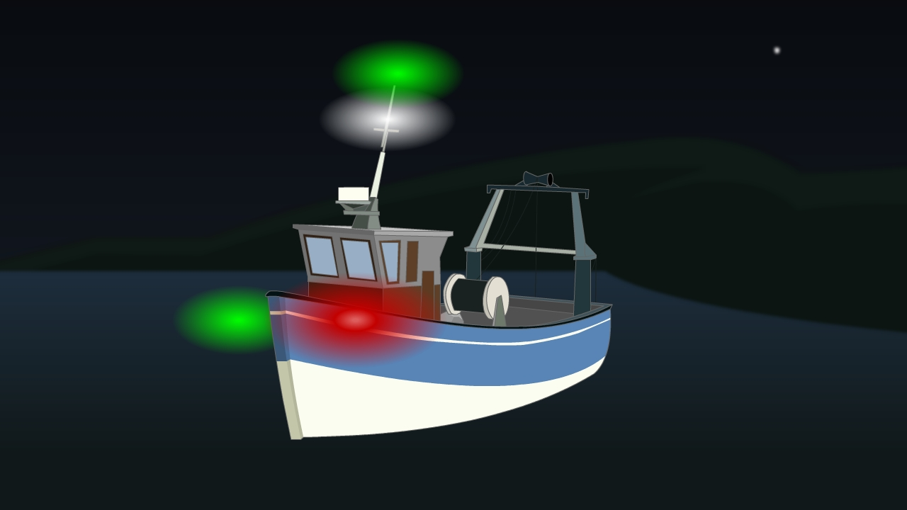 hight resolution of lights for vessel engaged in trawling