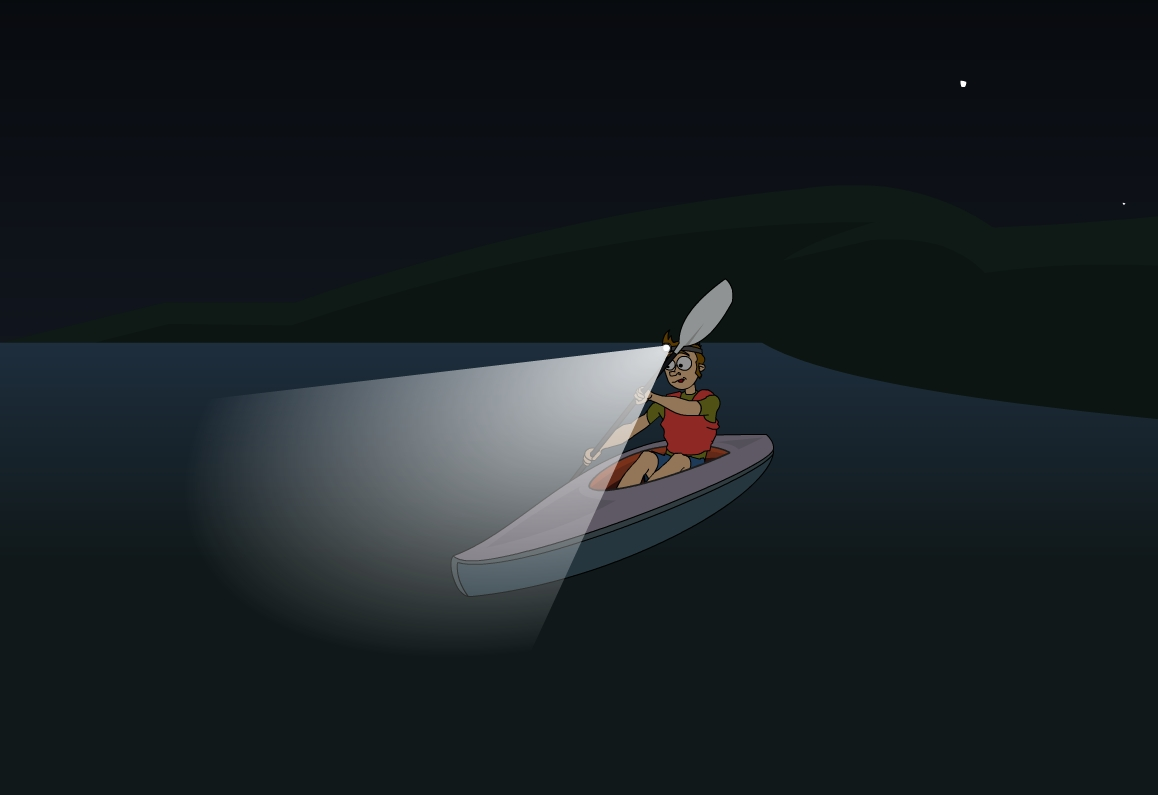 hight resolution of navigation lights for kayak or canoe