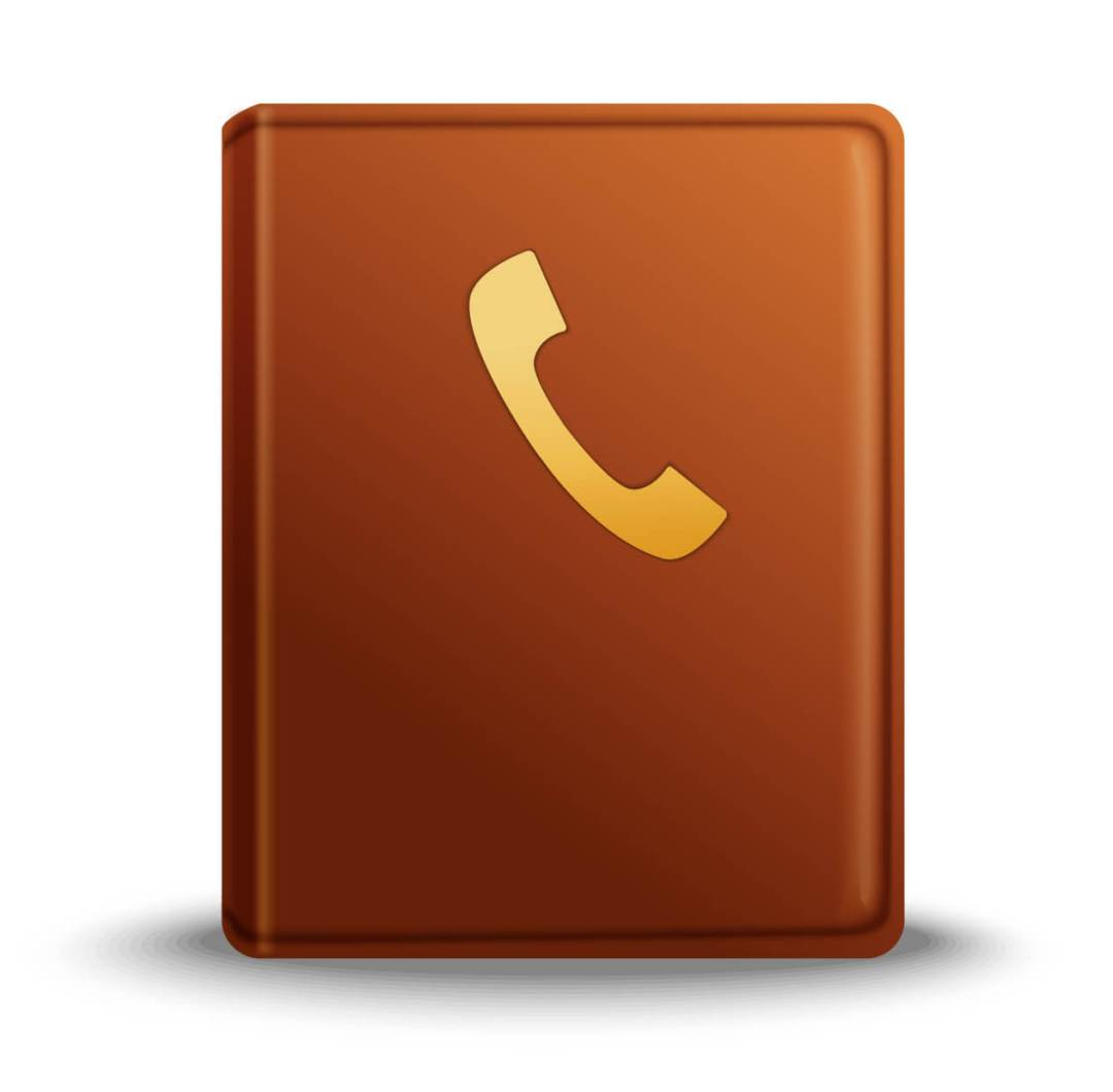 Phone directory vector