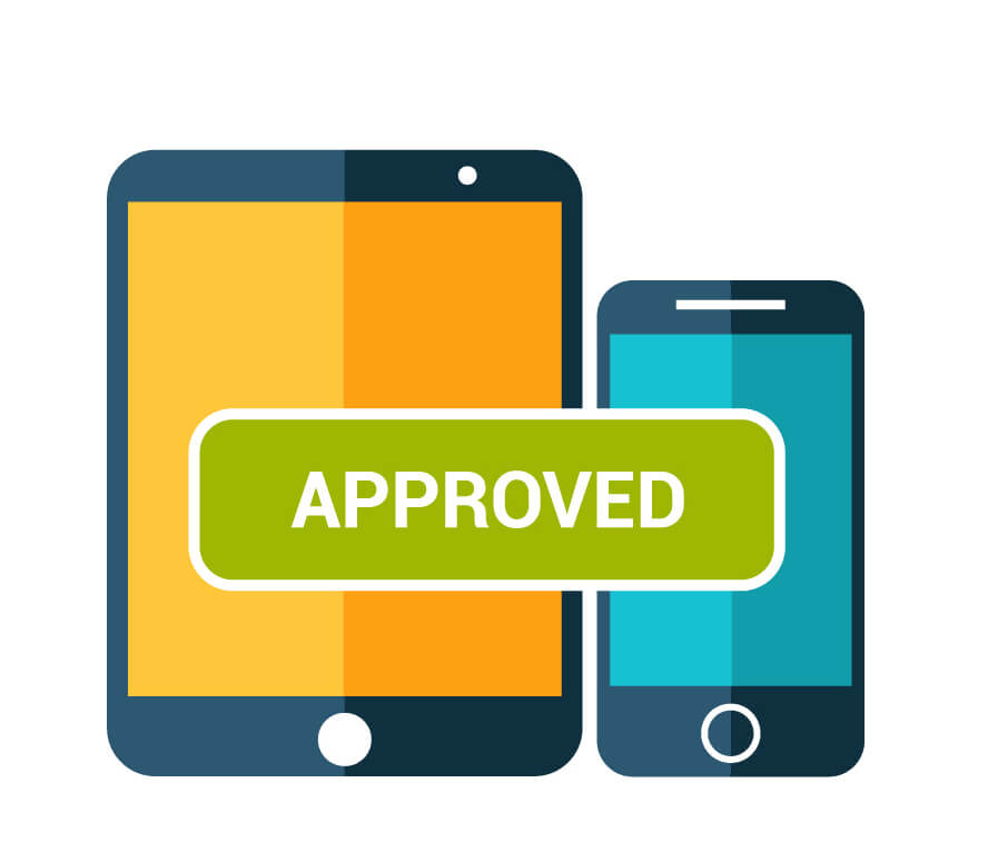 website user experience approved vector icon