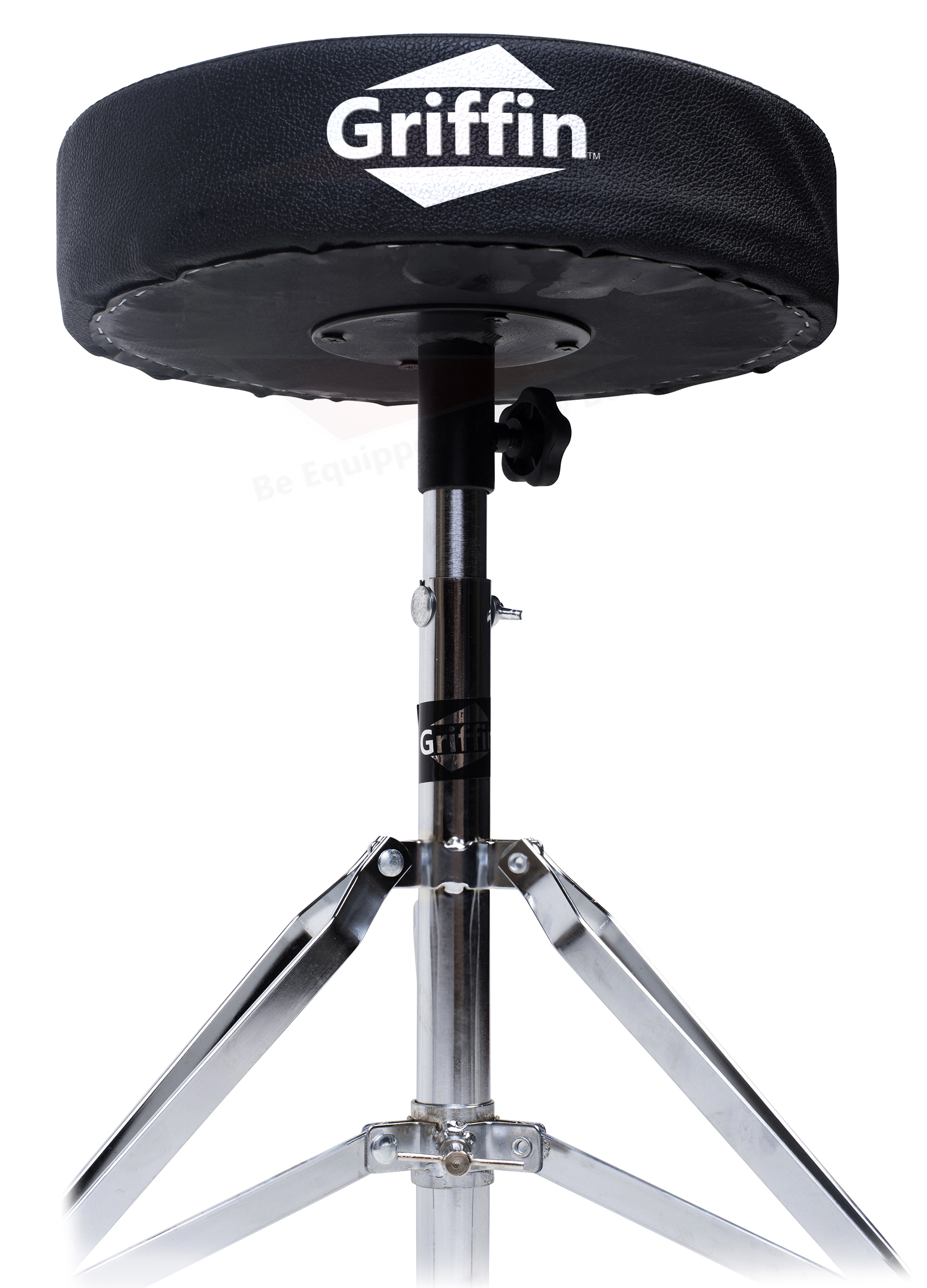 Drum Chair Drum Throne Griffin Padded Seat Drummers Stool Stand
