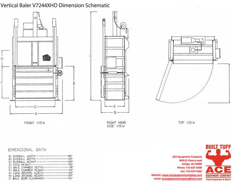 V7244XHD: Vertical Baler