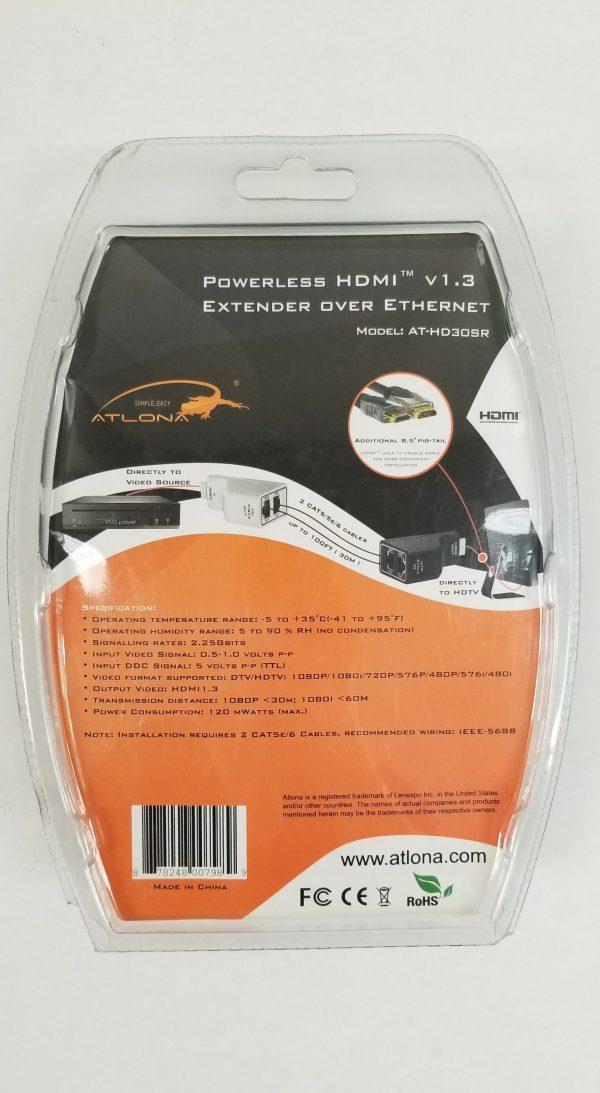 Atlona Powerless HDMI v1.3 Extender Over Ethernet