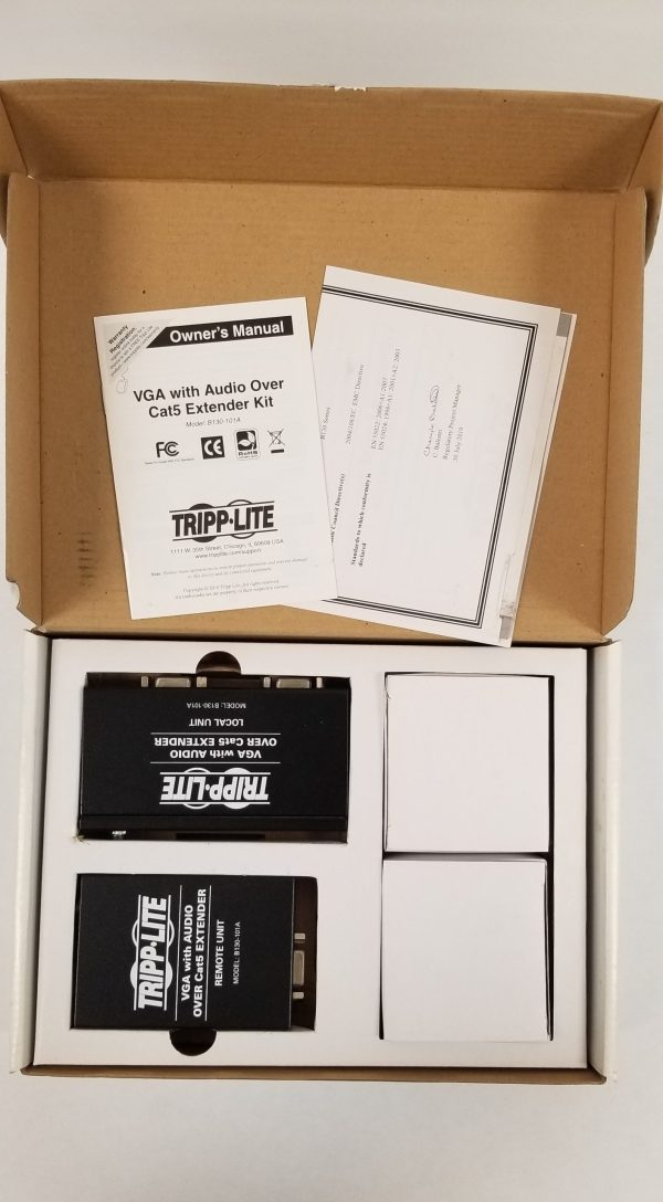 Tripp Lite B130-101A, VGA with Audio Over Cat5 Extender kit (1000 ft)