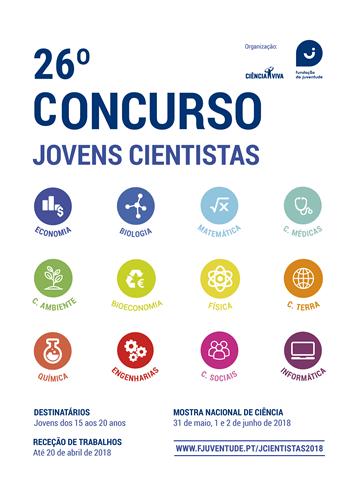 26ª edição do Concurso Jovens Cientistas da Fundação da Juventude