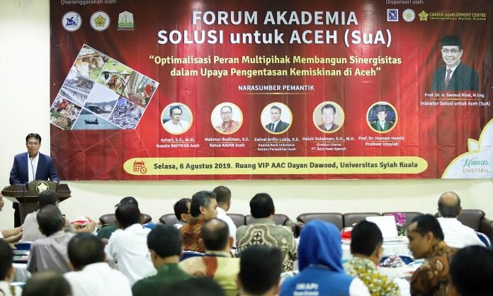 Multipihak Berkumpul di Unsyiah Bahas Pengentasan Kemiskinan di Aceh