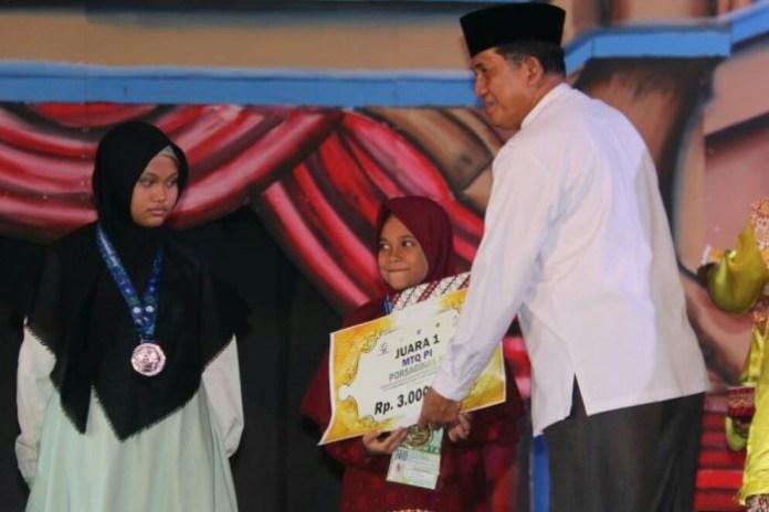 Kafilah Aceh Raih 3 Medali Emas Porsadin Nasional 2019 di Bangka Belitung