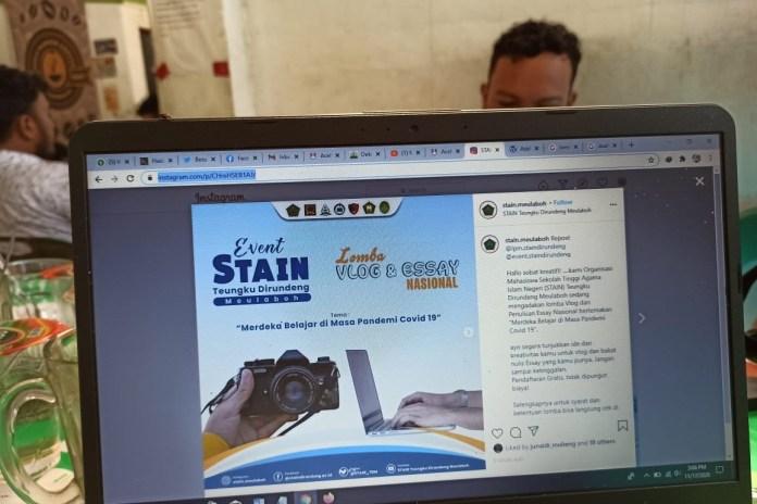 Asah Kreativitas di Tengah Pandemi, Mahasiswa STAIN Meulaboh Adakan Lomba Tulis hingga Vlog