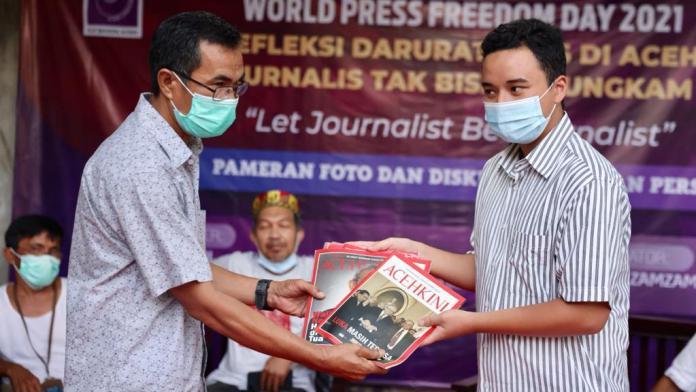 WPFD 2021, AJI dan PFI Gelar Pameran Foto Refleksi Darurat Pers di Aceh
