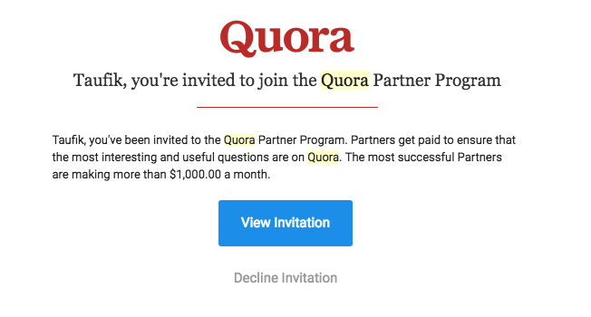 undangan program mitra quora