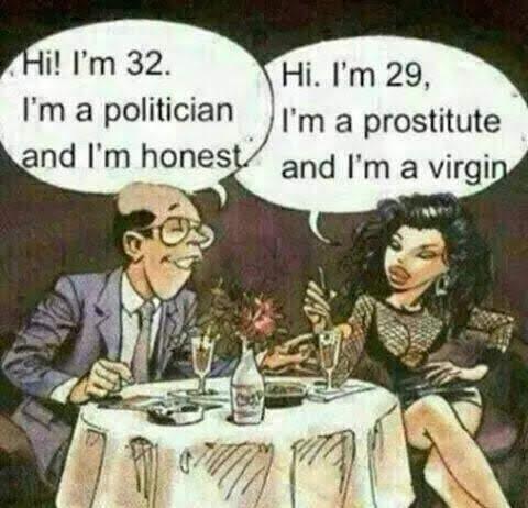 Meme dialog politikus dan seorang pelacur
