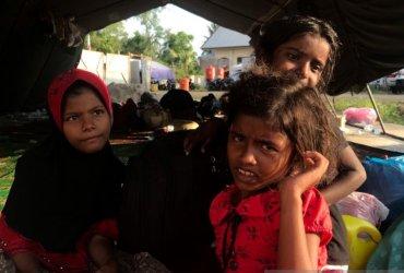 Pengungsi etnis Rohingya di Aceh