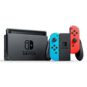 קונסולת משחקים כוללת בקרים בצבע אדום וכחול NINTENDO SWITCH