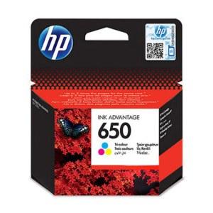 ראש דיו צבעוני מקורי HP 650