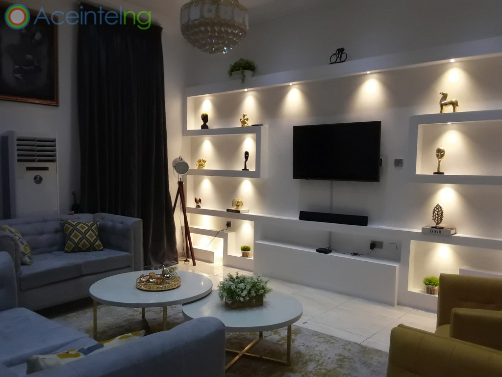 5 bedroom duplex for shortlet in chevron lekki lagos - TV stand