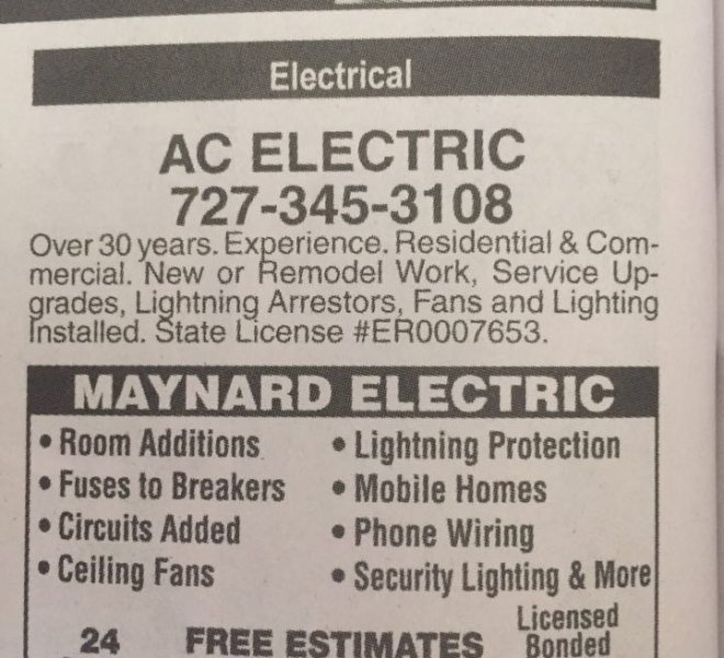 AC Electric Ad