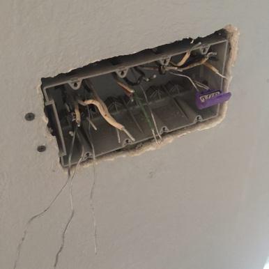Light Switch Box Rewire