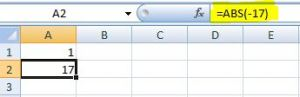 How to use ABS function in Excel