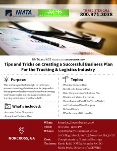Tips & Tricks on Creating a Successful Business Plan @ ACE Women's Business Center | Norcross | Georgia | United States