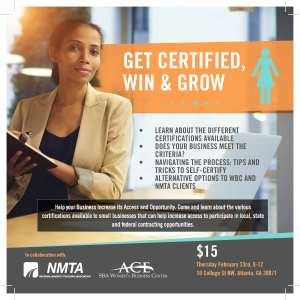 Certify your business as Women-Owned - Certify, Win & Grow @ ACE WBC Norcross Location | Norcross | Georgia | United States