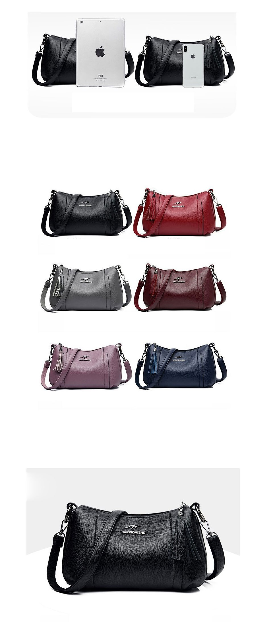 Soft Faux Leather Designer Shoulder Bag Letter V