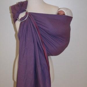 Storchenwiege® sling z obročki Leo roza 1