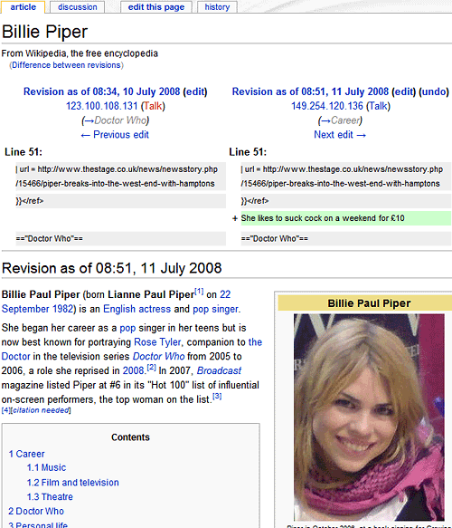 Bille Piper Wiki