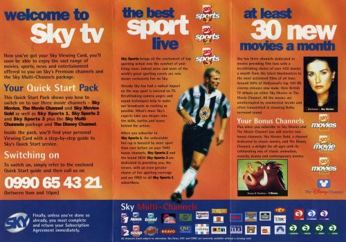 Sky 1996 Pamphlet inside