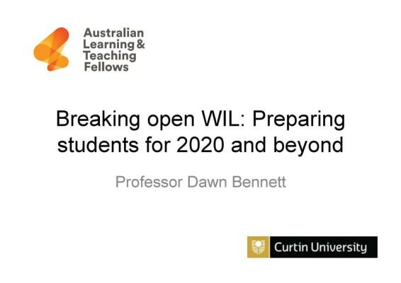 Prof Dawn Bennett's keynote address