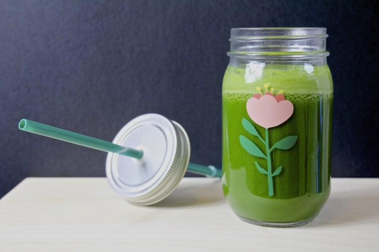 Centrifuga spinaci, cetriolo e mela verde