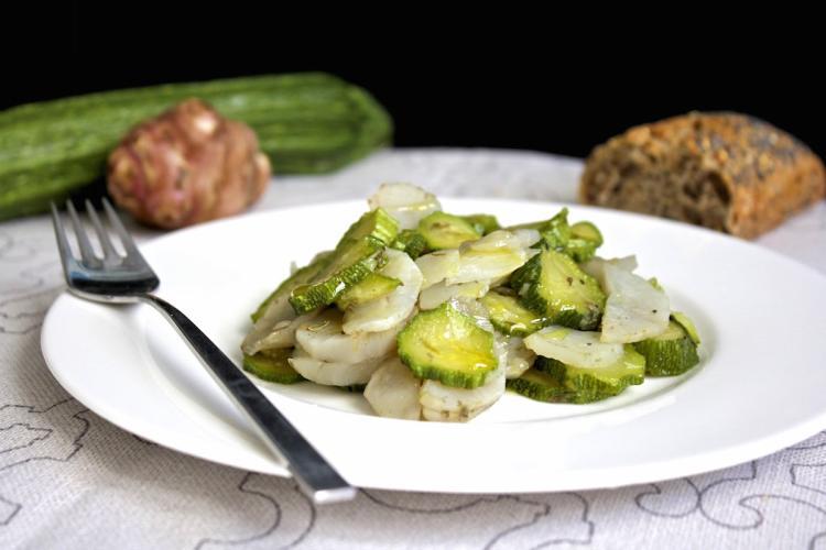 Topinambur con zucchine