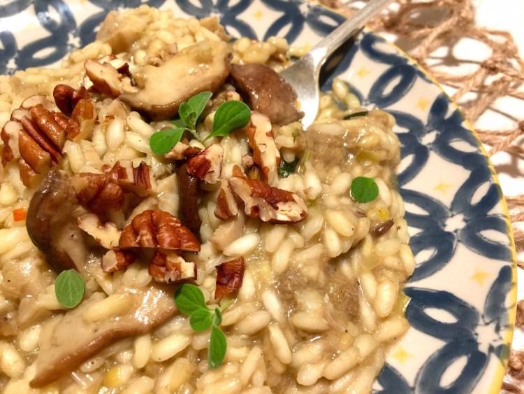 Risotto funghi porcini, noci e maggiorana