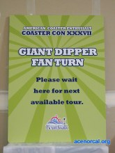 SCBB Giant Dipper ACE Coaster Con fan turn tour sign