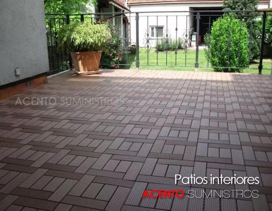 Piso deck tableta reas de patios exteriores acento for Pisos de patios modernos