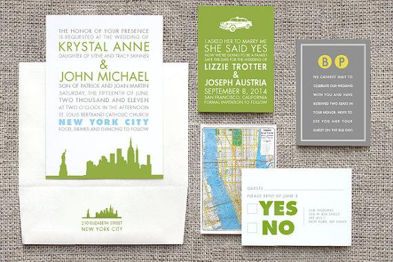 New York City Destination Wedding Invitations A Central